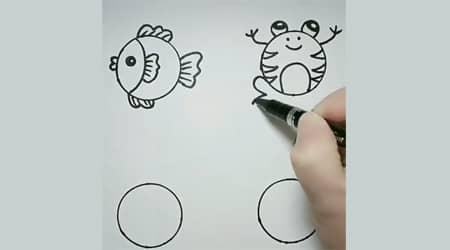 Dairelerden Kolay Çizim Hayvanlar