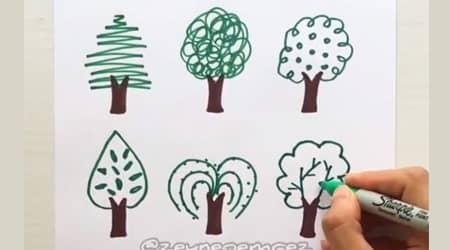 Kolay Ağaç Çizimleri