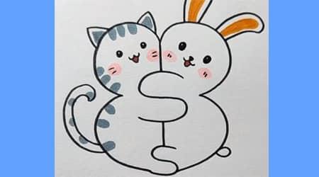 Sevimli Kedi ve Tavşan Çizelim