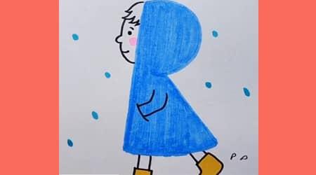 Mavi Pelerinli Kız Çizelim