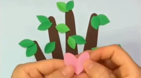 El Kalıbından Çiçekli Ağaç Yapımı