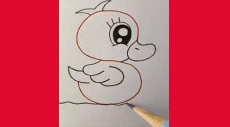 S Harfinden Ördek Çizimi