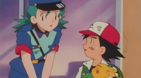 Ash bir Pokemon Yakalar