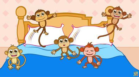 Çocuk Şarkıları - Beş Küçük Maymun