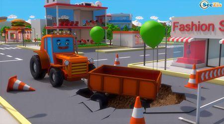 İş Makineleri - Turuncu Traktör Römorkunu Kaybediyor